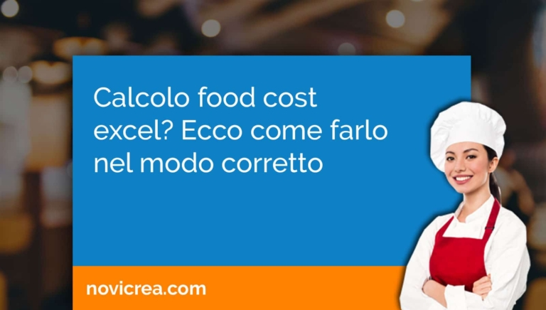 calcolo food cost excel