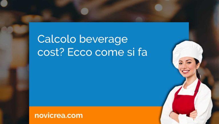 calcolo beverage cost
